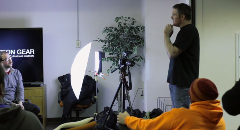 Carl Crum teaching lights.