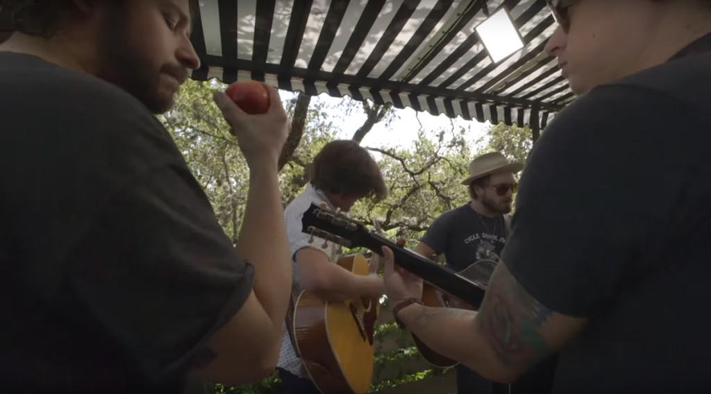 We hung a couple Amaran lights at Hotel Saint Cecilia at SXSW Austin, for a shoot with the Wild Feathers.